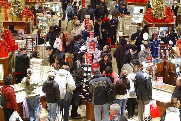 美國9月零售銷售意外下滑0.3%,差於市場預期的增長0.3%,為今年2月以來首見負增長。(AFP)