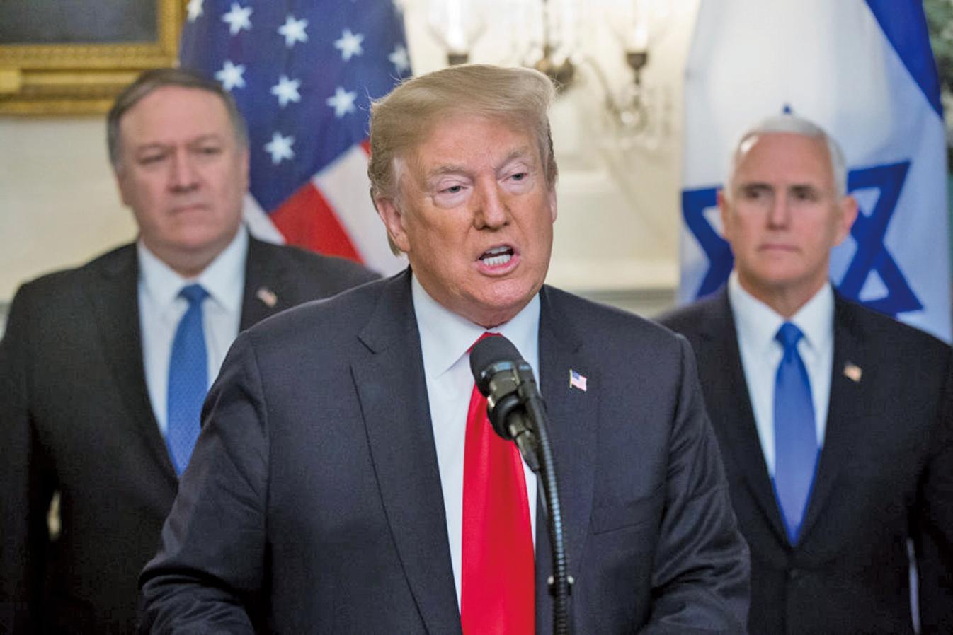 美國總統特朗普派副總統彭斯和國務卿蓬佩奧前往土耳其,進行停火和解協議談判。(Getty Images)