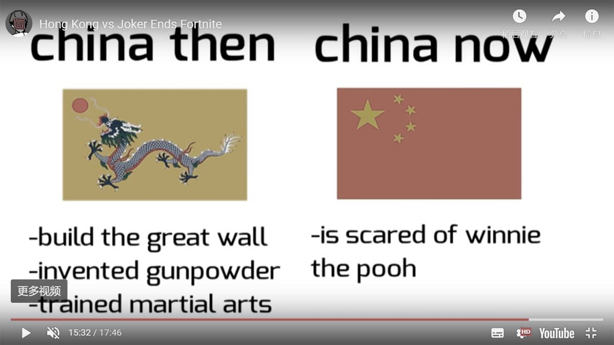 YouTube播主PewDiePie在新片中表示,曾經的千年文明古國如今已陷入中共紅色恐怖。(影片截圖)