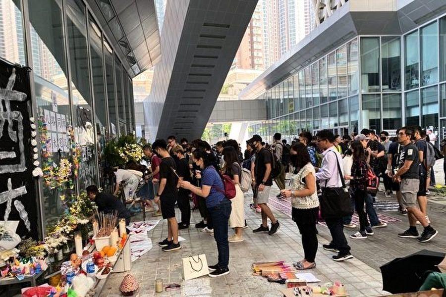 組圖:知專生悼念陳彥霖 不信「死因無可疑」