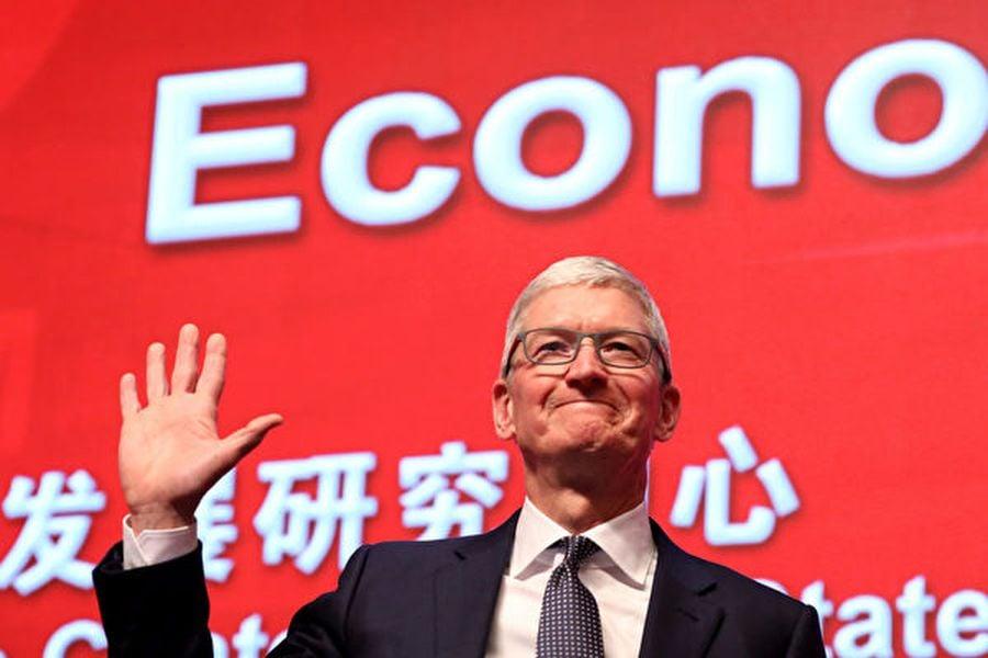蘋果首席執行官蒂姆・庫克10月18日與中方進行年度會議。圖為他今年3月出席中國發展論壇。(NG HAN GUAN/AFP/Getty Images)