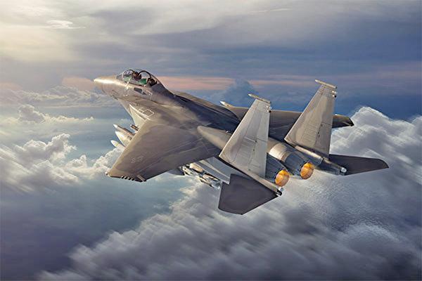 美國波音公司公佈新型F-15EX戰機的概念圖。(Boeing)