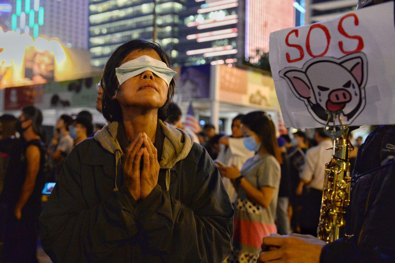 為香港人道危機祈禱(宋碧龍/大紀元)