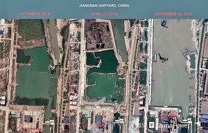 美衛星照顯示中共正建大型航母