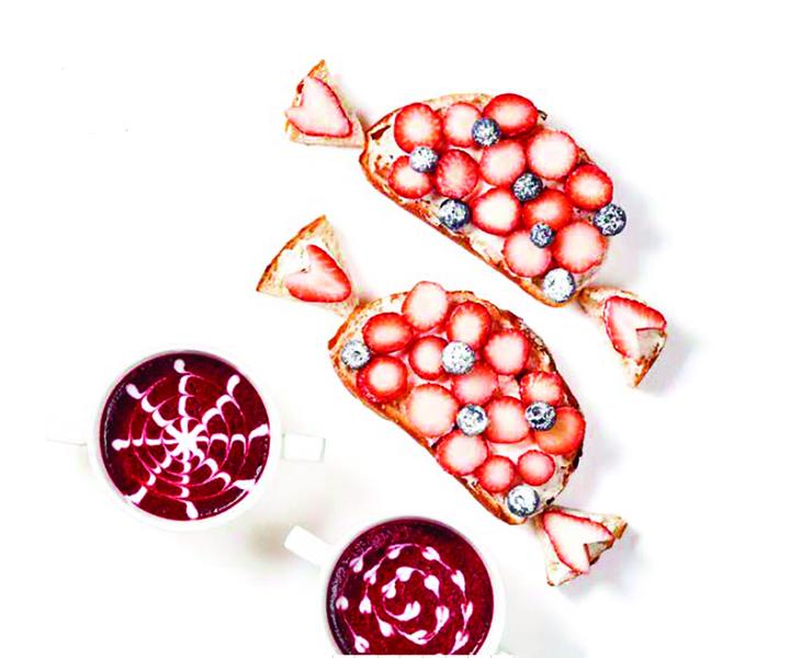 美味多采的雙莓拼盤