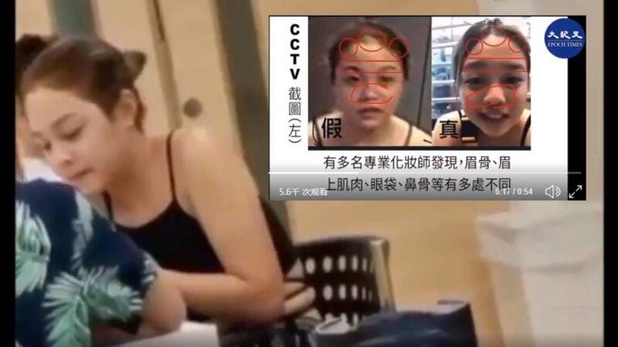 港人疑似拍到陳彥霖替身補拍監控當天的畫面。(影片截圖)