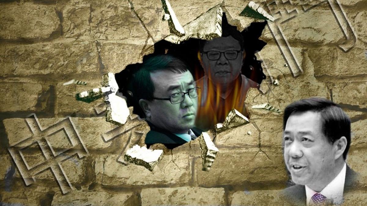 荷里活大片《洗錢天堂網絡》中講述發生的中國故事,故事圍繞薄谷開來謀殺英國商人海伍德,及王立軍出逃和薄熙來被抓等情節展開。(合成圖片)