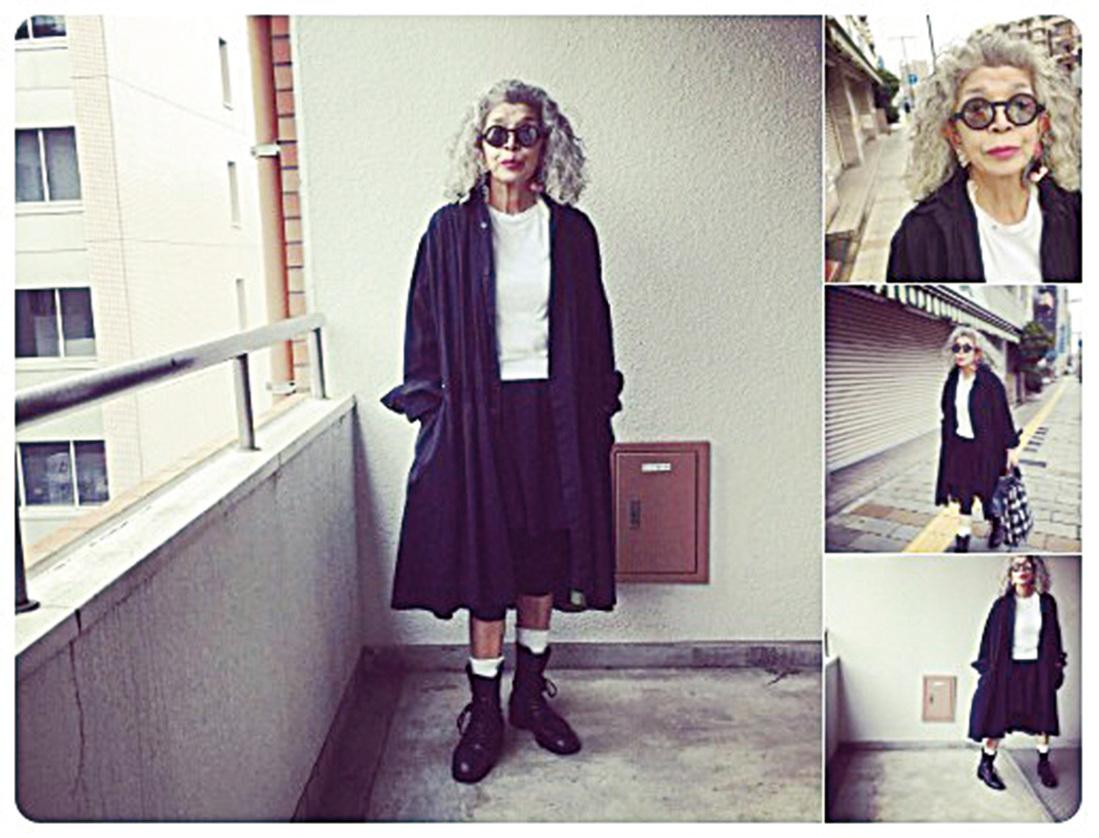 雅子婆婆很有氣質,可以把服裝穿得很時尚,很高貴。(goodmoomin/Twitter)