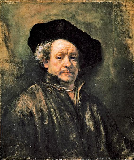 林布蘭1660年自畫像,藏於紐約大都會博物館。(公有領域)