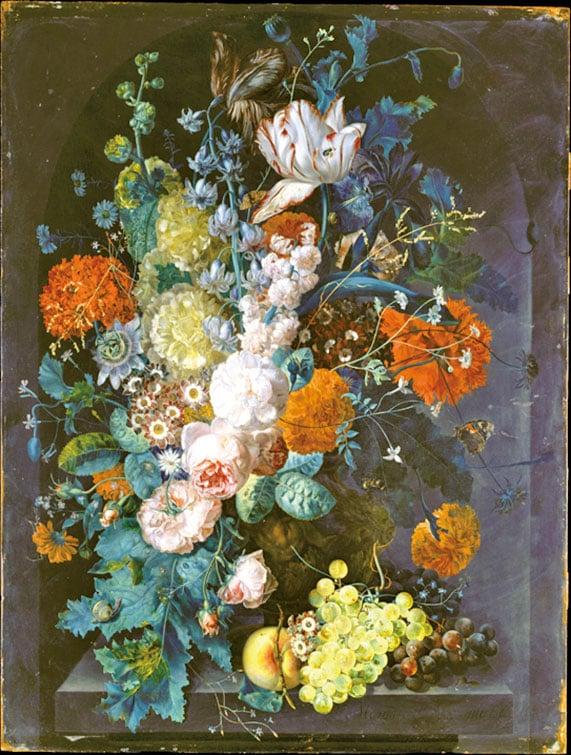 瑪格麗塔‧哈弗曼(Margareta Haverman)1716年作品《花瓶》,藏於紐約大都會博物館。(公有領域)