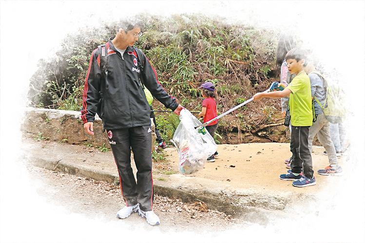 2019年1月城門水塘親子清徑行動。