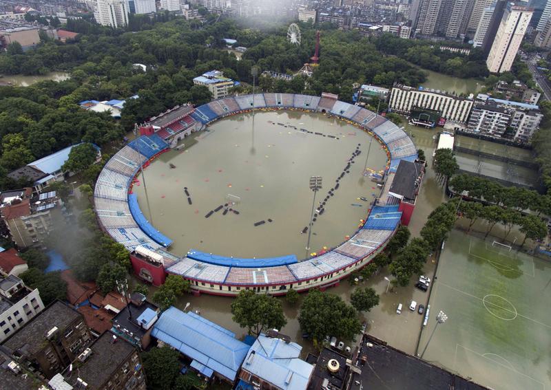 從空中看中國南方水災