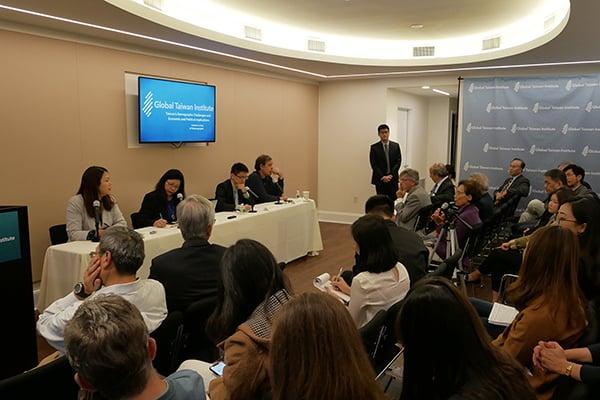 華府「全球台灣研究所」(Global Taiwan Insti tute)10月9日舉行研討會。(李辰/大紀元)