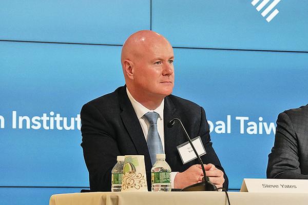 美國前副國安顧問、愛達荷州前共和黨主席葉望輝(Steve Yates)。(李辰/大紀元)