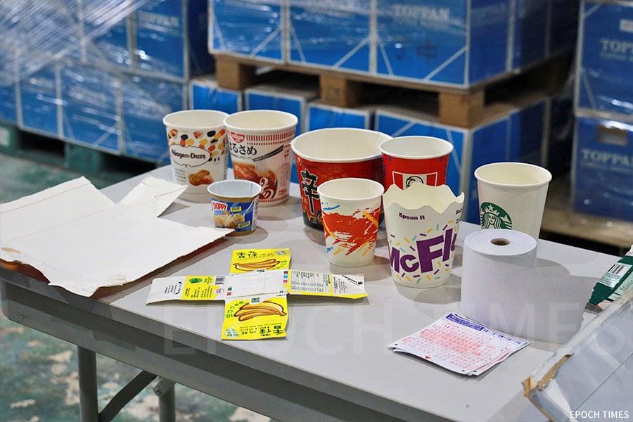 除了回收紙包飲品盒外,公司正研究將其他紙類物品回收處理,如紙杯、熱感紙、被食物污染紙張等。(陳仲明/大紀元)