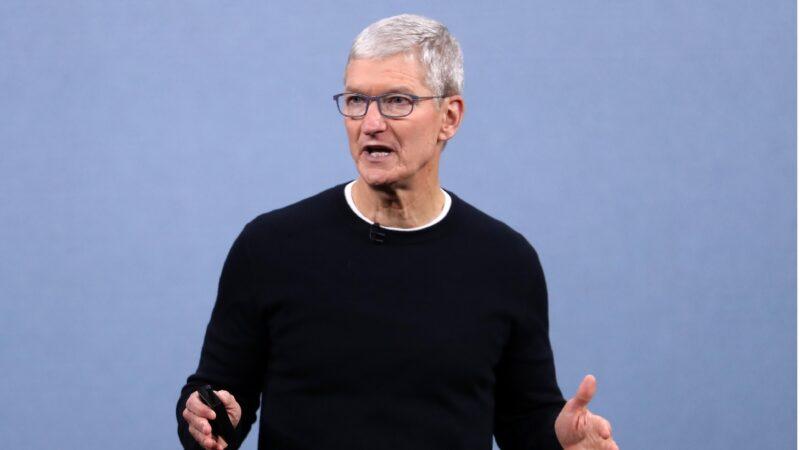 蘋果公司(Apple)首席執行官庫克(Tim Cook)。(Justin Sullivan/Getty Images)