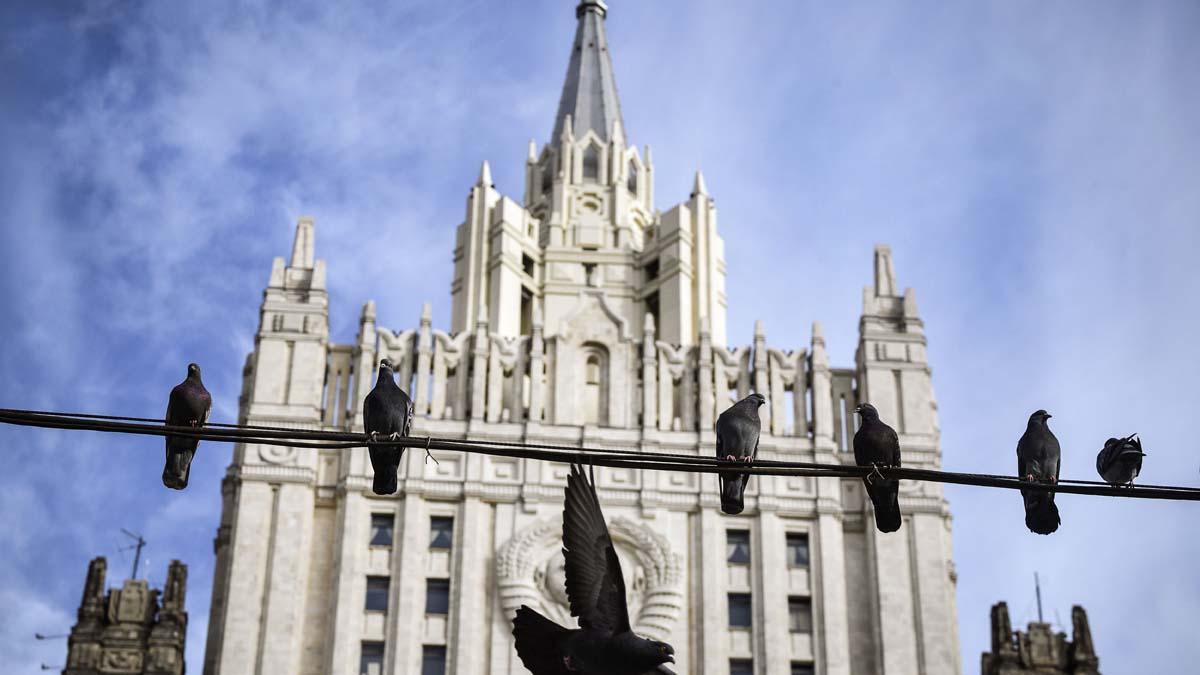 圖為俄羅斯外交部大樓。(ALEXANDER NEMENOV/AFP via Getty Images)