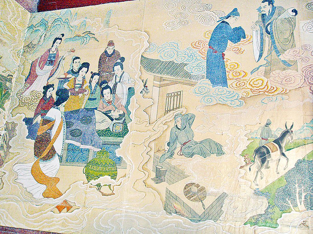 邯鄲黃粱夢鎮呂仙祠中,關於《黃粱記》故事的壁畫(Fanghong/Wikimedia Commons)