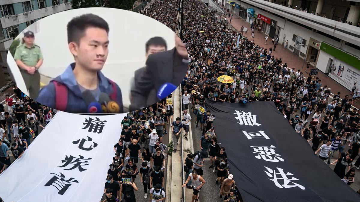 中華民國要求押解陳同佳,令港府進退兩難。左上為陳同佳2019年10月23日出獄的影片截圖。(Getty Images/合成圖片)
