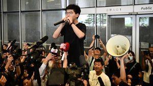 黃之鋒競選議員遇阻 疑北京當局作梗