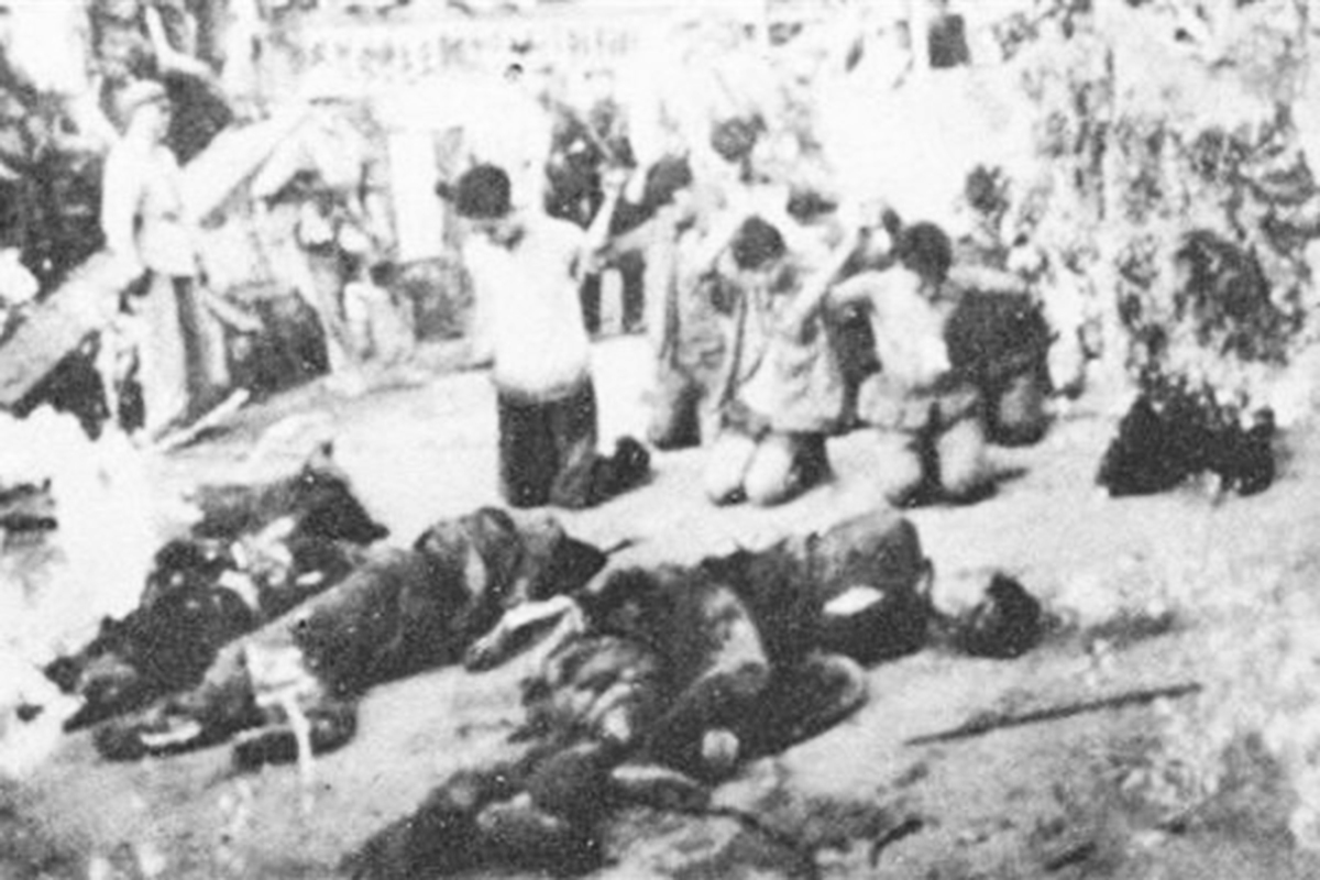 圖為文革中的處決場面。(網路圖片)