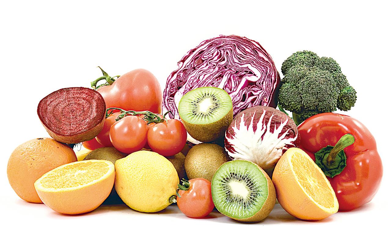 攝取多樣化的蔬果,能確保身體攝取到不同的營養素。