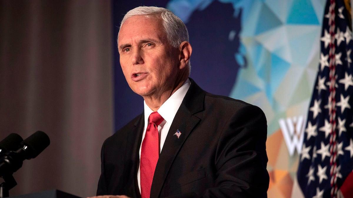 美國副總統彭斯(Michael R. Pence)10月24日第二次發表對華政策演說。(NICHOLAS KAMM/AFP via Getty Images)