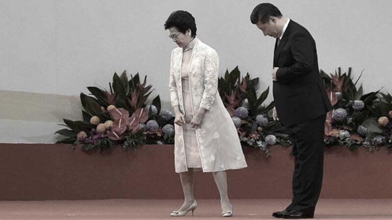 英媒報道北京考慮替換林鄭月娥,港府官媒引述分析稱是北京某派勢力在放風。(ANTHONY WALLACE/AFP/Getty Images)