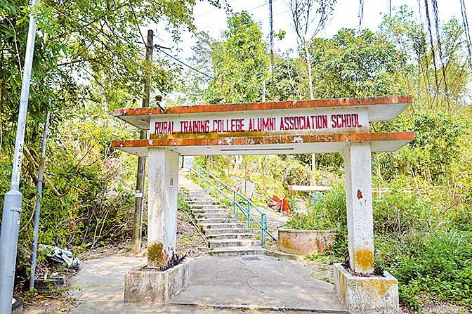 麥理浩徑第十段的入口,「鄉師自然學校」的彩色招牌映入眼簾。