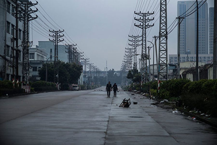 隨著大陸經濟增長下滑,大陸企業債務違約越來越多。(Lam Yik Fei/Getty Images)