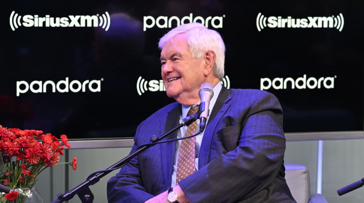 圖為美國眾議院前議長紐特•金里奇(Newt Gingrich)。(Slaven Vlasic/Getty Images for SiriusXM)