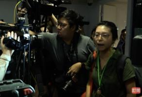 被指施暴記者 警方無回應 記者會一度中斷