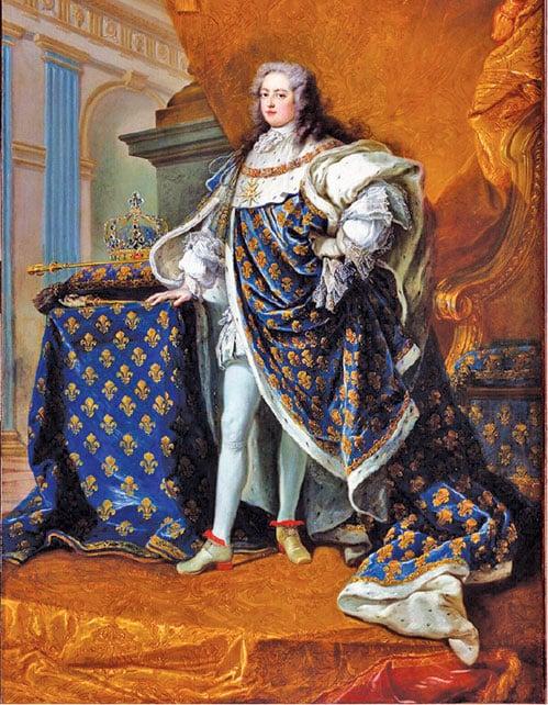 """法國國王路易十五肖像,凡爾賽宮國家博物館特里亞農宮收藏。 (杰拉德 """"凡爾賽宮/皇家宮殿(RMN-GP))"""