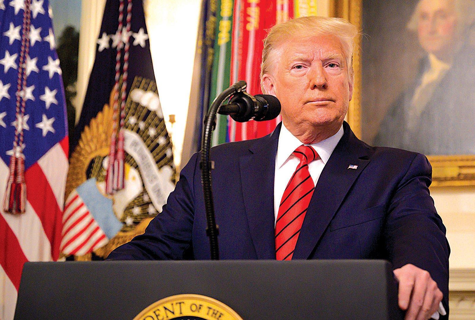 特朗普總統10月27日宣佈巴格達迪在26日的美軍突擊中死亡。(AFP)