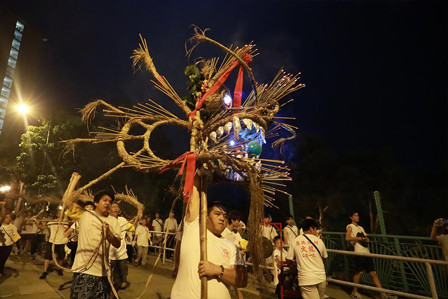 薄扶林村的「火龍」是村中的一大特色。(陳仲明/大紀元)