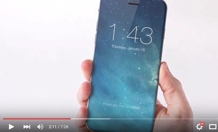 蘋果正在測試一款全新設計、更纖薄的機身iPhone 7。(視頻擷圖)