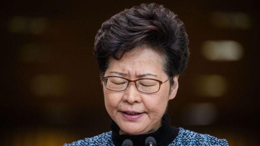香港《蘋果日報》10月31日發表評論文章,指在中共四中全會「如此重要的大會」前,傳出北京可能撤換香港特首林鄭月娥的消息「絕非偶然」。(ANTHONY WALLACE/AFP via Getty Images)