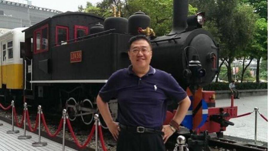 圖為台師大國際人力資源發展研究所退休副教授施正屏被關押在北京。(取自施正屏臉書)