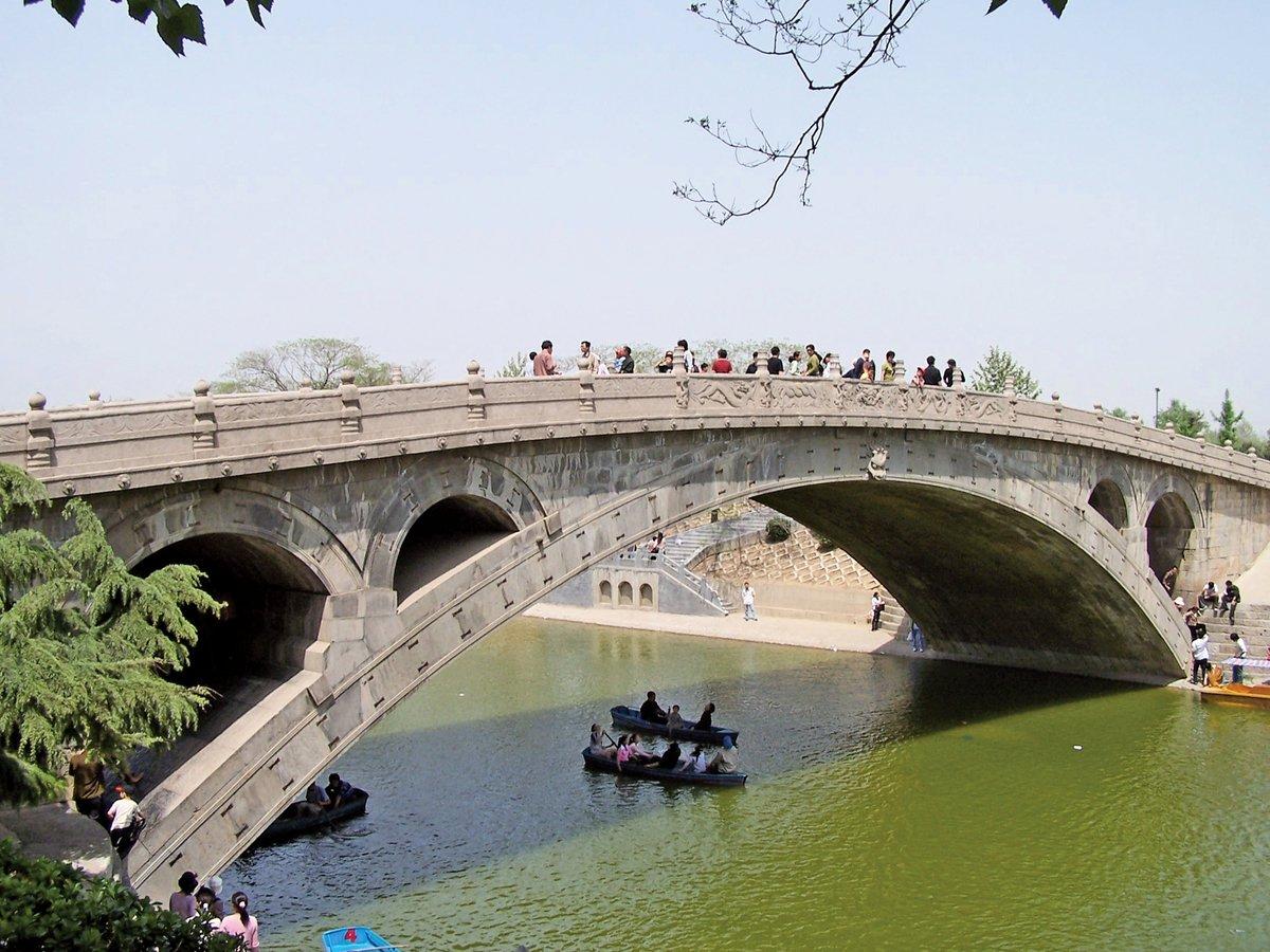 隋煬帝大業六年(公元610年)建造的趙州橋是國際土木工程歷史古蹟之一,以大跨度圓弧拱橋科技超越群倫。(大紀元)