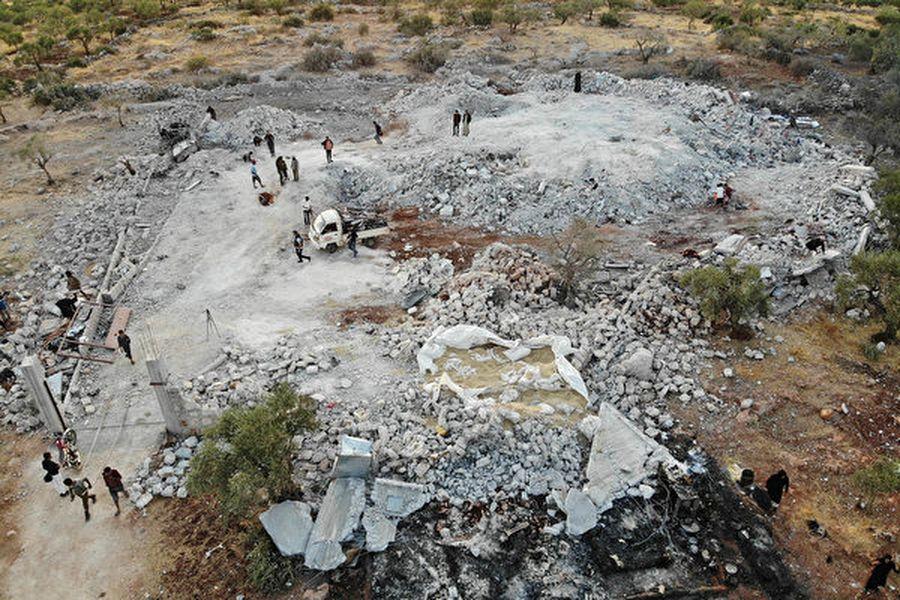 伊斯蘭國最大頭目阿布・巴克爾・巴格達迪(Abu Bakr al-Baghdadi)的最後據點被美軍蕩為平地。(Omar HAJ KADOUR/AFP)
