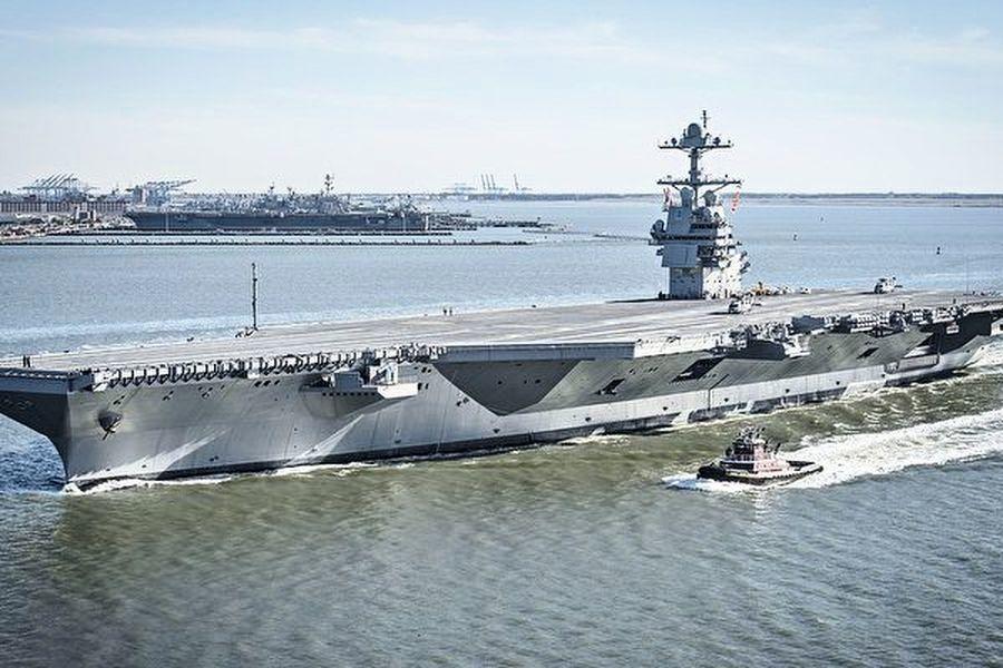 巨艦漂移 最新福特號航母高速轉向