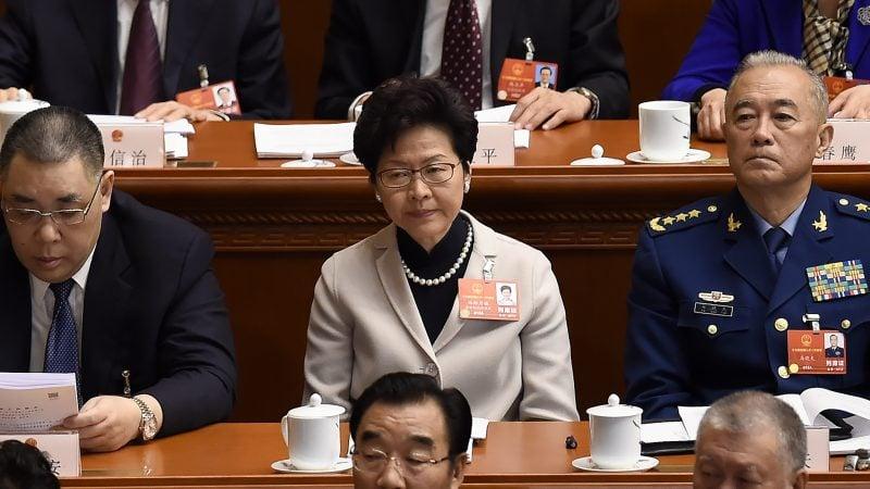 林鄭6日將與分管港澳事務的中共常委韓正會面。分析認為,或意味著香港局勢將進一步惡化。( WANG ZHAO/AFP/Getty Images)