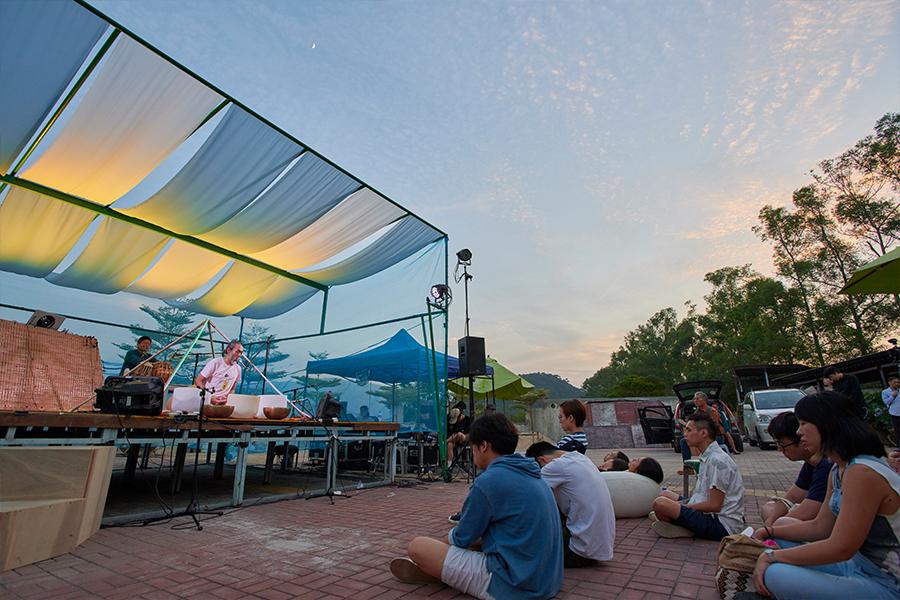 在沙頭角新村舉辦的第一屆香村音樂節。(受訪者提供)