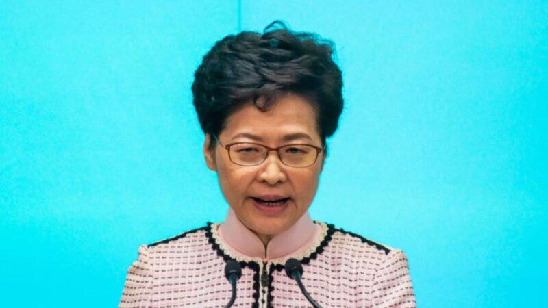 香港特首林鄭月娥2019年10月16日在新聞發佈會上講話。(BILLY H.C. KWOK/GETTY IMAGES)