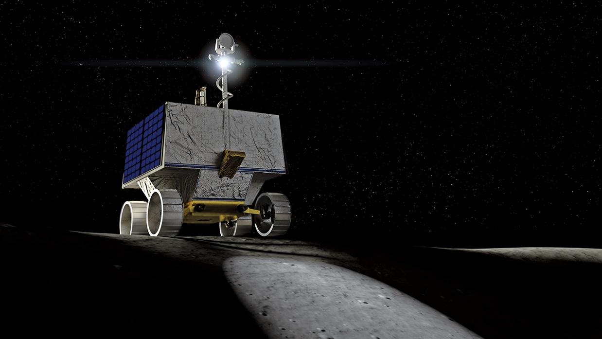 將於2022年登陸月球的NASA機械人Viper示意圖。(NASA Ames/Daniel Rutter)