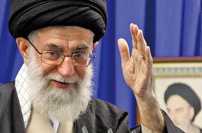 圖為伊朗最高領袖哈米尼。(AFP)