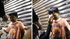 香港幼童迷路問警察 突遭胡椒噴劑射臉