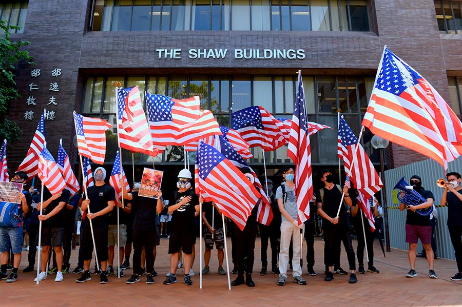 美國對香港人持續不斷的支持
