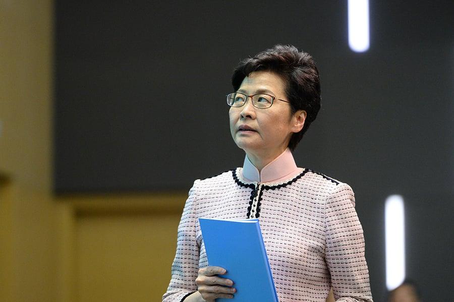 習近平11月4日在上海會見林鄭月娥,未提「支持警察執法」,引外界關註。(大紀元資料室)