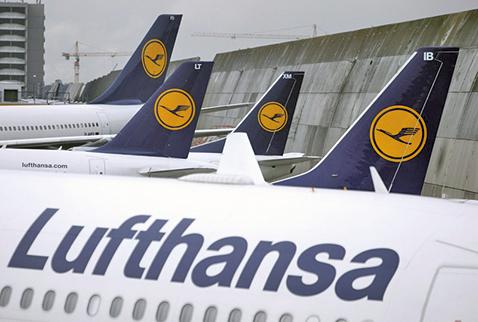 德國漢莎航空公司(Lufthansa)11月6日宣佈,因人員罷工而取消周四、周五的1,300個航班。(Getty Images)
